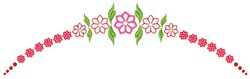 Pink Flower Arch embroidery design
