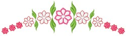 Pink Garland Arch embroidery design