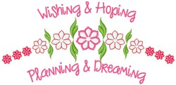 Wishing & Hoping embroidery design