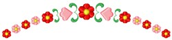 Red Flowers embroidery design
