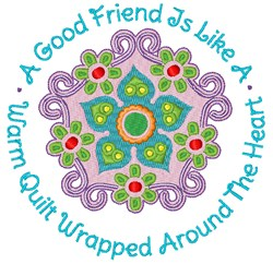 A Good Friend embroidery design