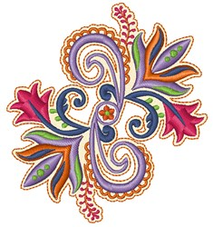 Colorful Floral embroidery design