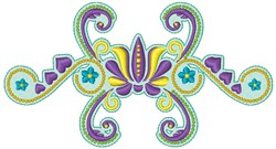 Decorative Floral embroidery design