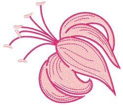 Pink Lily embroidery design