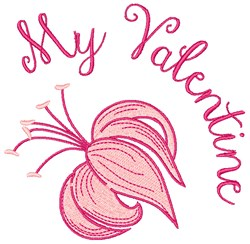 My Valentine embroidery design