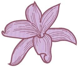 Purple Lily embroidery design