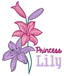 Princess Lily embroidery design