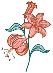 Lily Flowers embroidery design