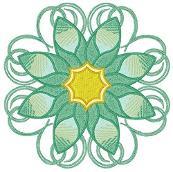 Teal Flower embroidery design