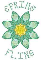 Spring Fling embroidery design