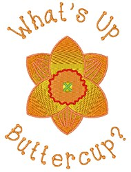 Whats Up Buttercup embroidery design