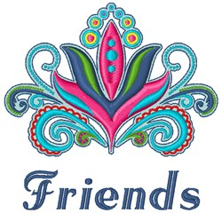 Friends Flower embroidery design