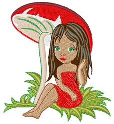 Toadstool Girl embroidery design