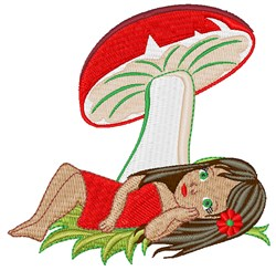 Under A Mushroom embroidery design