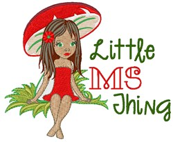 Little MS Thing embroidery design
