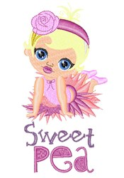 Sweet Pea embroidery design