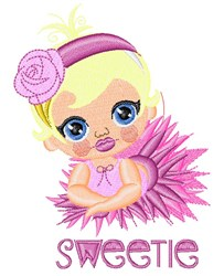 Sweetie embroidery design