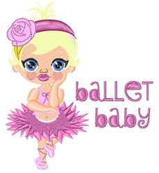 Ballet Baby embroidery design