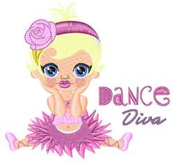 Dance Diva embroidery design