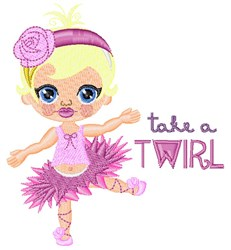 Take A Twirl embroidery design