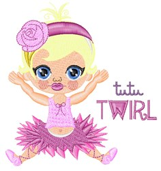 Tutu Twirl embroidery design