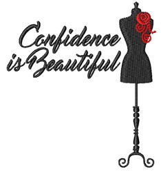 Beautiful Confidence embroidery design