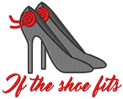 If Shoe Fits embroidery design