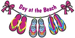 Day At Beach embroidery design