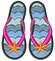 Summer Flip Flop embroidery design