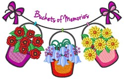 Buckets Of Memories embroidery design