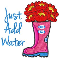 Just Add Water embroidery design