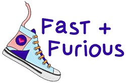 Fast & Furious embroidery design