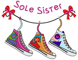 Sole Sister embroidery design