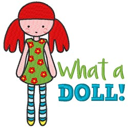What A Doll embroidery design