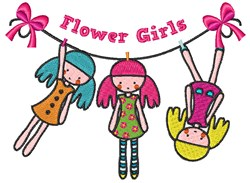 Flower Girls embroidery design
