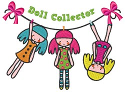 Doll Collector embroidery design
