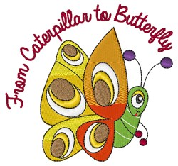 From Caterpillar embroidery design