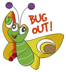 Bug Out embroidery design