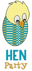 Hen Party embroidery design