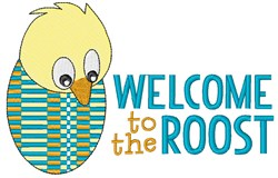 Welcome To Roost embroidery design