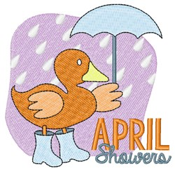 April Showers embroidery design