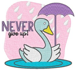 Never Give Up embroidery design