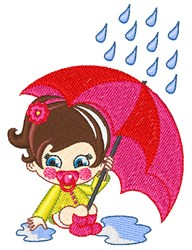Rain Girl embroidery design