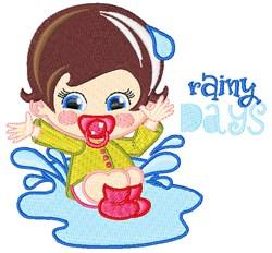 Rainy Days embroidery design