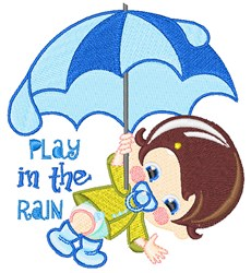 Play In Rain embroidery design