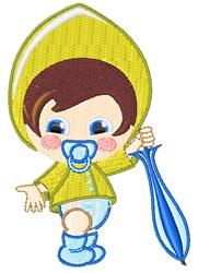 Umbrella Baby Boy embroidery design