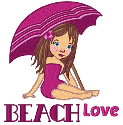 Beach Love embroidery design