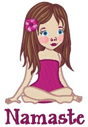 Namaste Girl embroidery design