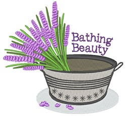 Bathing Beauty embroidery design