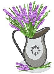 Lavender Pitcher embroidery design